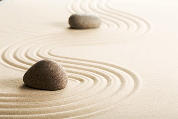 Papiers peints Zen pierres a sable Zen stones in the sand