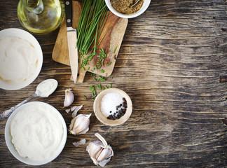 Ingredients for Making Sour cream Dijon Dressings