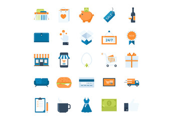 25 Shopping and Commerce Icons