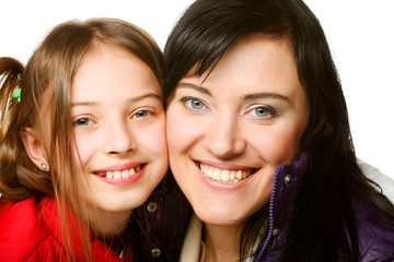 happy family - happy mother and her daughter