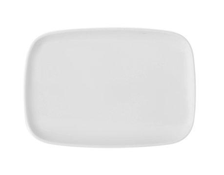 white tray isolated on white background