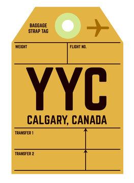 Calgary airport luggage tag