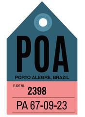 Porto Alegre airport luggage tag