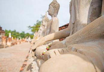 Watyaichaimongkol temple in Ayutthay ,Thailand.