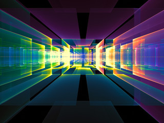 Abstract portal or date center - digitally generated image
