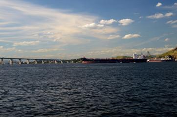 Cargo ship at Guanabara bay, Rio de Janeiro