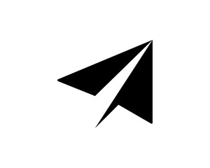 black silhouette paper plane flight airways airline image vector icon logo
