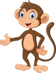 Happy monkey presenting