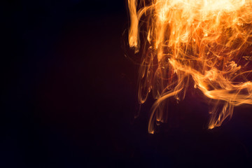 Abstract background of burning fire