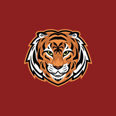 Tiger head vector illustration esport mascot logo