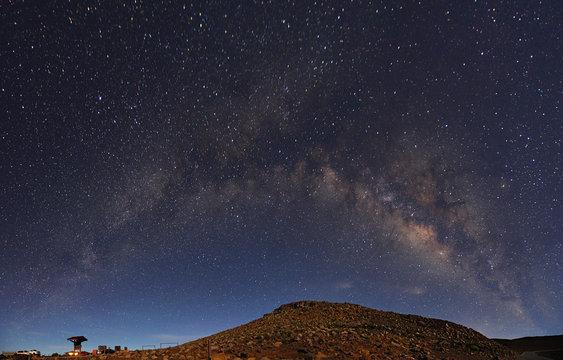 Milky Way over the top of Haleakala Crater