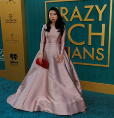 "Cast member Awkwafina poses at the premiere for ""Crazy Rich Asians"" in Los Angeles"