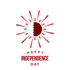 Happy Qatar Independent Day Vector Template Design Illustration