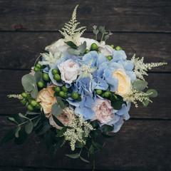 Bridal bouquet, natural flower decor