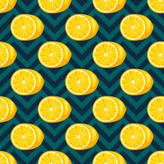 Lemons seamless pattern.