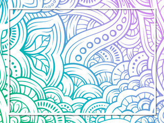 Ethnic colorful doodle background.