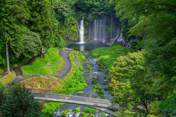 Shiraito waterfall in the southwestern foothills of Mount Fuji, Shizuoka, Japan