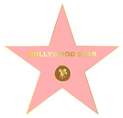 Walk of fame star icon vector eps 10