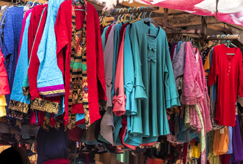 Various of woman dress in traditional market