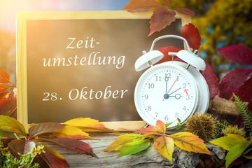 Umstellung auf Winterzeit am 28 Oktober nicht vergessen