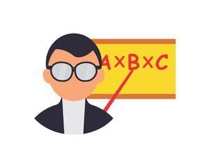 teacher man teach school college study academic image vector icon logo