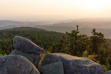 Die Leistenklippe auf dem Hohnekamm im Harz