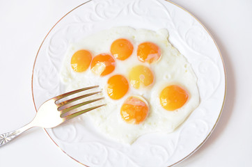 Яичница из перепелиных яиц.