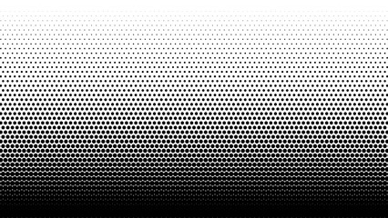 Gradient halftone. Abstract halftone background. Vector illustration. Black circles.