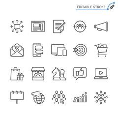 Marketing line icons. Editable stroke. Pixel perfect.