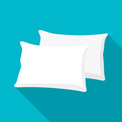 White pillow, cushion vector illustration