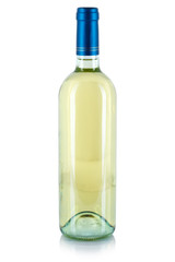 Wine bottle white alcohol drink isolated