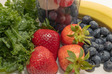 Close Up Strawberries and Fruit