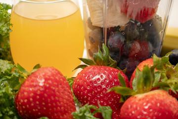 Close Up Juice and Fruit