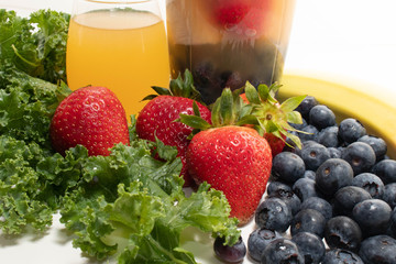 Close Up Fruit, Juice and Portable Juicer Cup