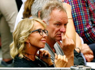 Singer Sting and his wife Trudie Styler attend the general audience at the Paul VI Hall in Vatican