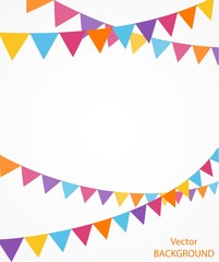 celebration background with bunting flags
