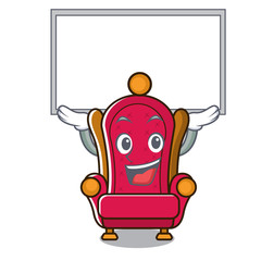 Up board king throne character cartoon