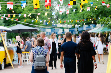 Odessa, Ukraine - July 07, 2018: Food Festival in Odessa, Ukraine. A lot of people attend an annual event dedicated to street food from suppliers and local restaurants.