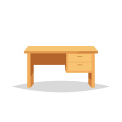 Office desk vector isolated illustration