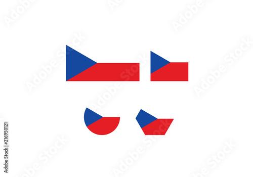Czech Republic National Flag Symbol White Blue Red Country Emblem