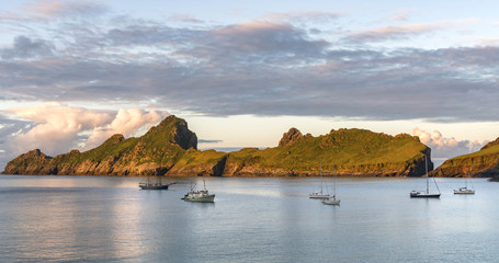 The island of Dun from Village Bay on St. Kilda.
