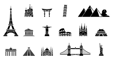 Landmarks of the World - Iconset Fototapete