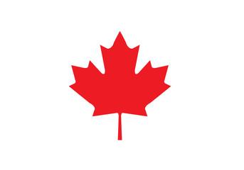 Maple leaf canada national symbol red shape flag