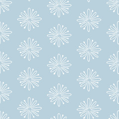 Hand drawn winter seamless pattern.