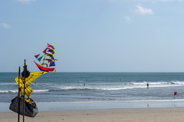 Traditional balinese kite on the beach