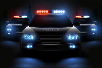 Police Light Bar Composition