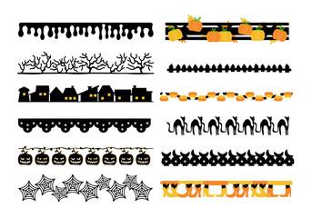 Halloween cute design borders element