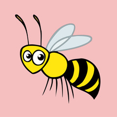 honey bee  icon,vector drawing