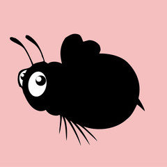 honey bee silhouette icon,vector drawing