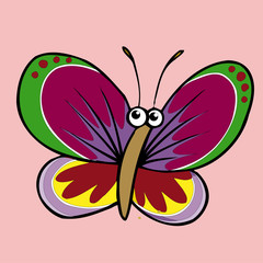 butterfly icon,vector drawing